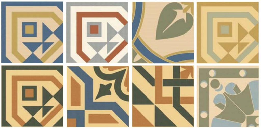 метлахская дизайнерская плитка в декоре