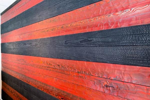 Стеновые панелииз обожженного дерева