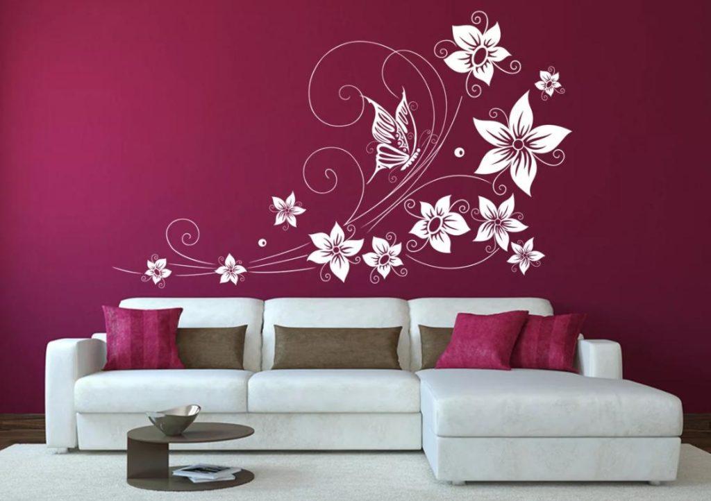 трафареты для покраски цветочный
