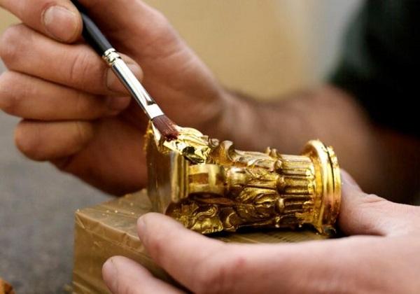покрытие сусальным золотом