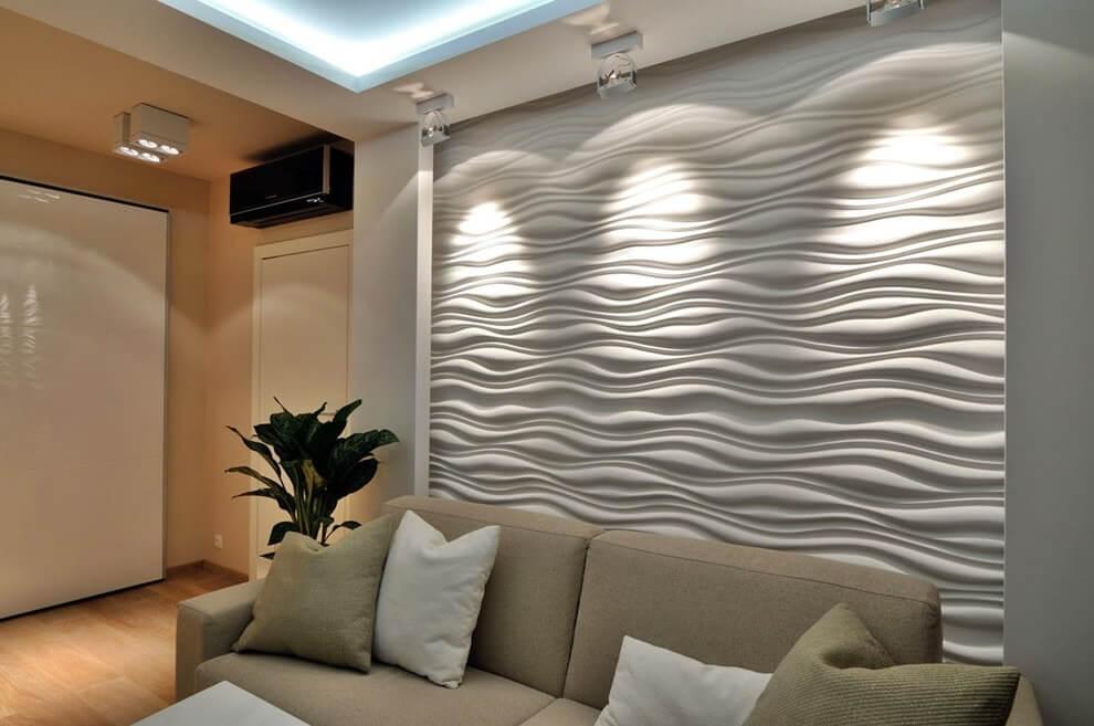 3D панели в декоре гостиной