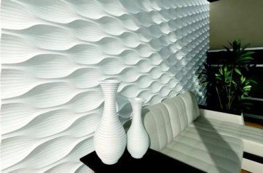 Современные формы 3Д гипсовых панелей