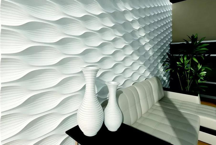 Современные формы 3Д гипсовых панелей для стен