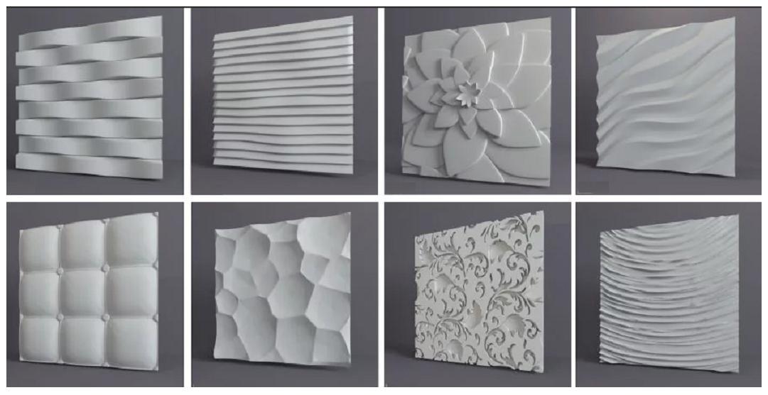 Пластиковые формы для заливки гипсовых панелей